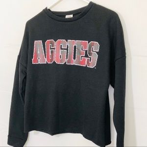 PINK Victoria's Secret Texas A&M Crop Sweatshirt